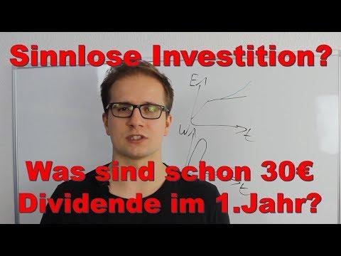 Was sind schon 30€ Dividende im Jahr? Sinnlose (Börsen) Investitionen?