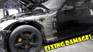 Replacing Destroyed 350z Front Fender!- Project 350
