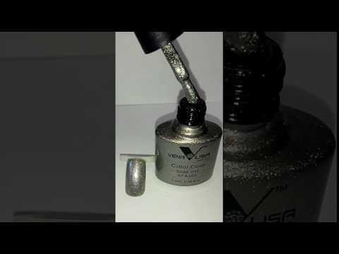 Палитра гель лаков Venalisa (Canni) № 958 темно-серебристый металлик