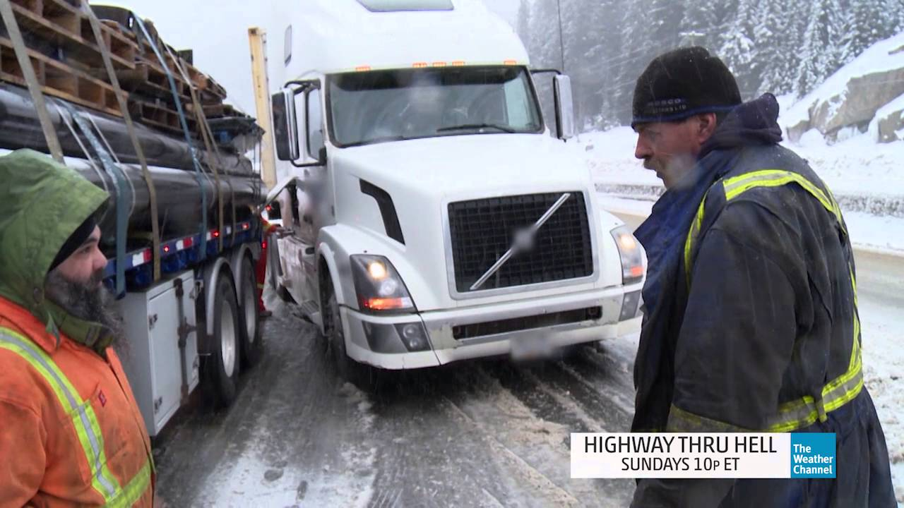 Highway Thru Hell: Snow Spin out!