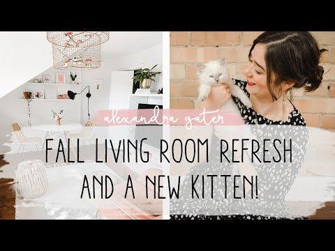 MY FALL LIVING ROOM MAKEOVER + I GOT A NEW KITTEN! | VLOG