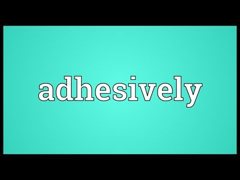 Header of adhesively
