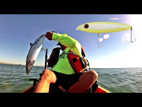 30milesOut.com~ BARELY OFFSHORE- kayak fishing TOP WATER spanish mackerel