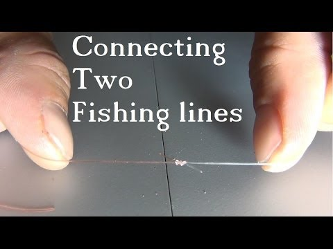 Tie 2 fishing lines together the easy strong knot for How to tie fishing line together
