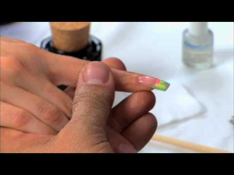 Acrylic Marble Design: Part 2 of 2 - Acrylic Nails