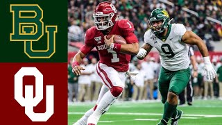 #7 Baylor vs #6 Oklahoma Big 12 Championship First Half Highlights | College Football Highlights