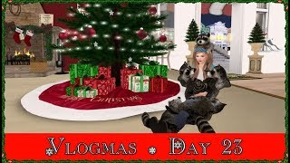 Vlogmas Day 23! Christmas Town!!! (Second Life)