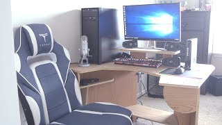 Gaming/Editing Desk -1 Day Build Challenge (No Plans) for $55-
