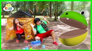 Pac-Man in Real life Camping Trip vs Ryan's Mommy and Daddy!