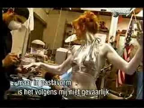 Kari Byron Mythbusters Silver Paint Tin Man video