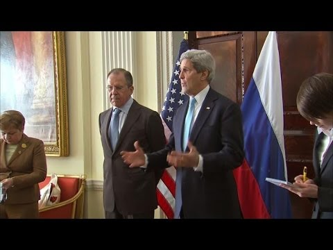 Kerry receives support from Cameron before Lavrov talks