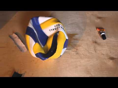 Ремонт мяча своими руками
