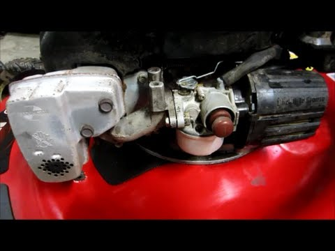 Toro Personal Pace Lawn Mower 6.5 GTS Tecumseh Engine Carburetor Cleaning - Part II - Oct 23, 2013