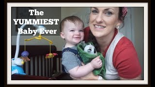 DAY IN THE LIFE | The YUMMIEST Baby Ever (10/1018) VLOG