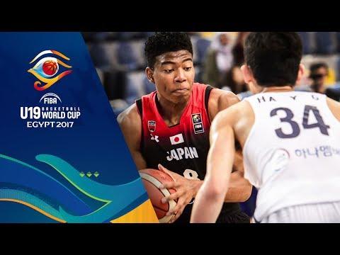【代表】FIBA U19バスケットボールワールドカップ2017 日本 vs 韓国