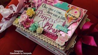 Baby girl scrapbook | Baby record book | DCWV Baby girl