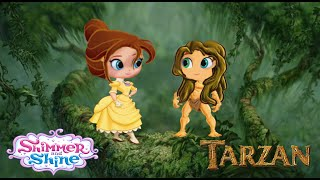 Shimmer and Shine Treehouse Episode Tarzan and Jane Color Disney
