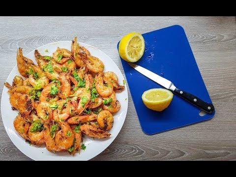 Жаренные креветки с чесноком / Fried shrimps with garlic