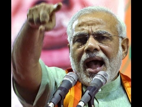 Angry Narendra Modi taking on Congress !