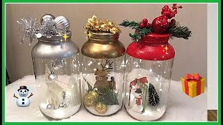 IDEAS CON  BOTELLAS DECORADAS  PARA  NAVIDAD MANUALIDAD FACIL Y RAPIDO
