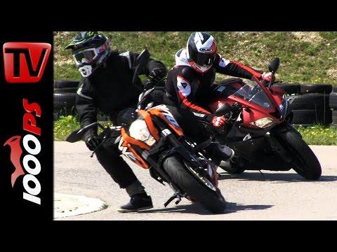 KTM Duke 125 vs  Yamaha YZF R125   Vergleich