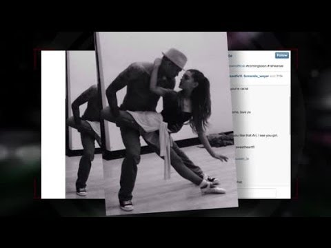 Ariana Grande & Chris Brown Rehearse For Upcoming Music Video