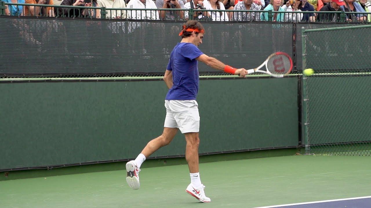 Roger Federer Backhand In Super Slow Motion 7 - Indian ...