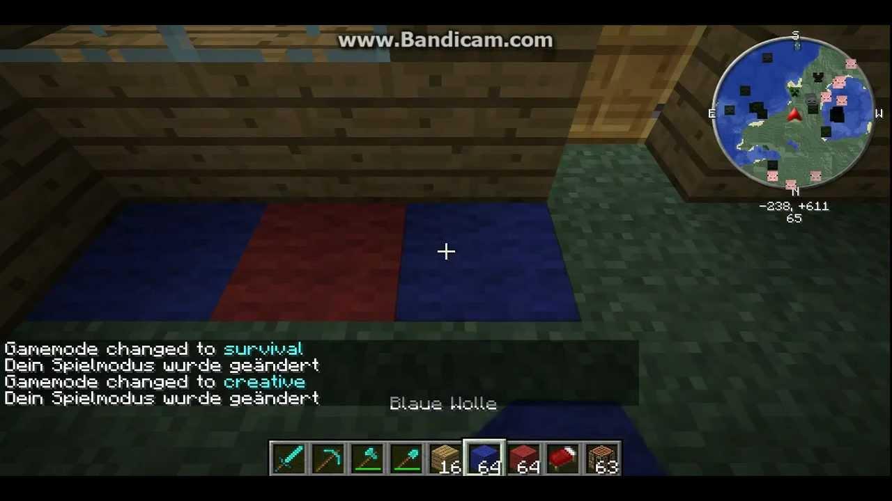 minecraft wie baut man ein bett youtube. Black Bedroom Furniture Sets. Home Design Ideas