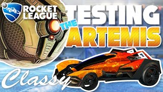 ROCKET LEAGUE | TESTING OUT THE ARTEMIS | NEW CAR GAMEPLAY