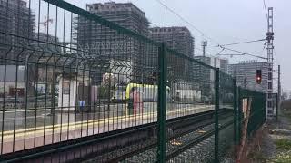 Marmaray Zeytinburnu İstasyonu ve Test Trenleri (Hyundai Rotem E32000 ve e68000)