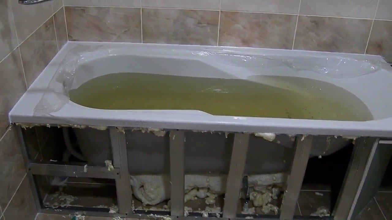 Укрепление акриловой ванны своими руками 26