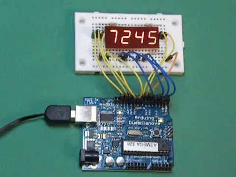 Arduino Multiplexing A 4 Digit 7 Segments Led Display