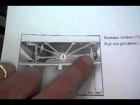 Glove box Removal Instructions BMW E90 3 Series