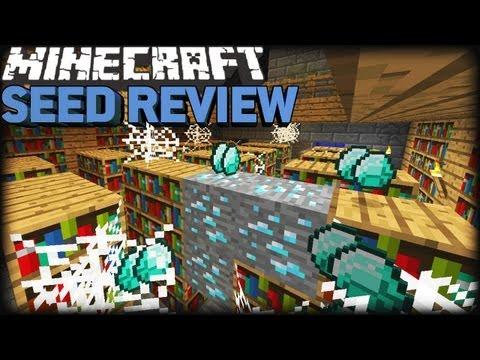 Minecraft 1.8 Seeds [CAM]: STRONGHOLD. 11 DIAMONDS & RAVINE!