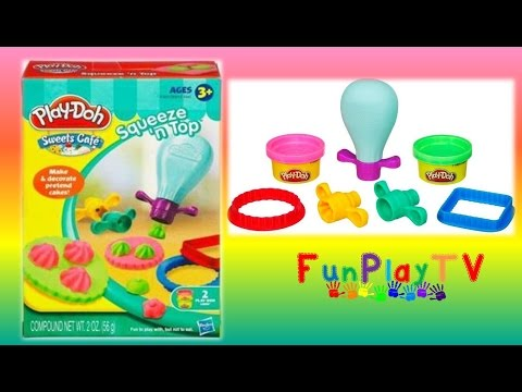 Play-Doh Sweets Cafe Squeeze 'n' Top Peppa Pig George Flash Minions Surprise Ice Creams