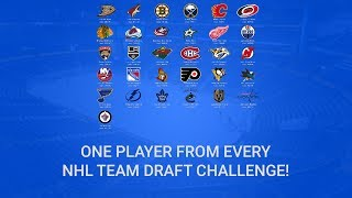 ONE PLAYER FROM EACH TEAM!! NHL 17 Fantasy Draft Challenge