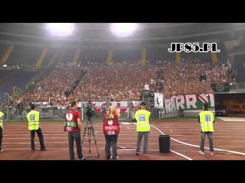 JP85.PL - Lazio Rzym 1-0 Legia Warszawa (oprawa + Doping)
