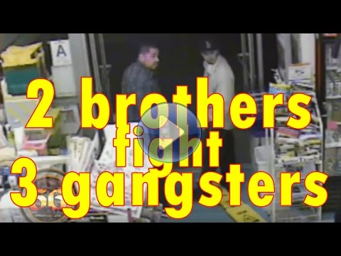 2 Brothers Fight Off 3 Gang Members And Get Shot At In Liquor Store Parking Lot video