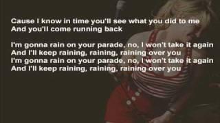 Duffy - Rain On Your Parade ( instrumental / kareoke / lyrics )