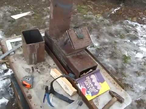Походная печь из трубы