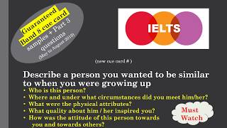 IELTS Cue card Describe a person you wanted to be similar to when you were growing up