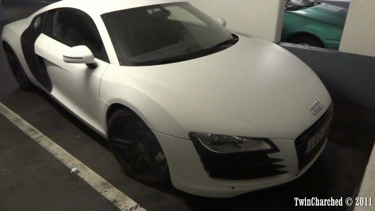 Hd Audi R8 V8 W Matte White Wrap Youtube