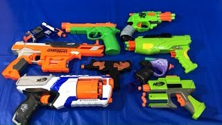 Nerf Blasters Box of Toys for Children Learn Colors with Toy Blasters