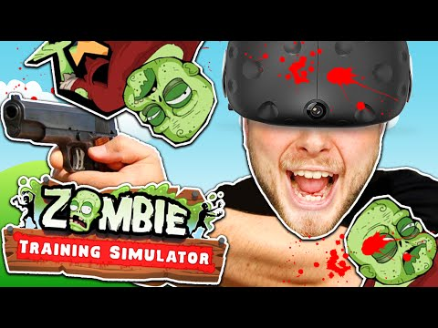 SquiddyPlays - ZOMBIE TRAINING SIMULATOR! (HTC Vive)