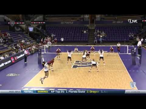 Women's Volleyball: Samantha Bricio's 6-Ace Package vs. Wisconsin