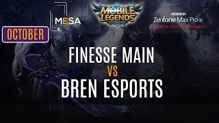 MeSA Mobile Legends October 2018: Finesse Main Vs Bren Esports
