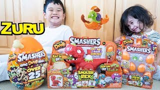 ZURU SMASHERS Series 3 DINO Smashers Epic Egg & SMASH REX Smash-O-Saurus Playset Toy Review