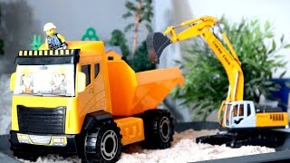 Toy Truck Videos for Children. Tipper and Excavator for children. Game for Kids. Big trucks for kids