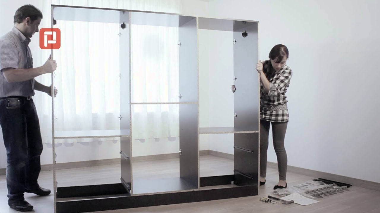 C mo armar un armario practimac youtube - Como hacer puertas de armario ...