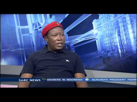Malema on Mbete's comments